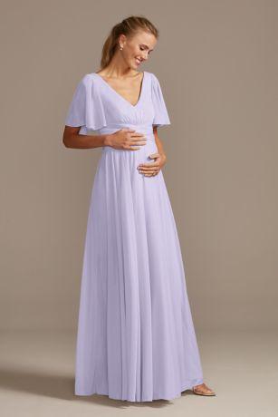 Long Sheath Short Sleeves Dress - David's Bridal