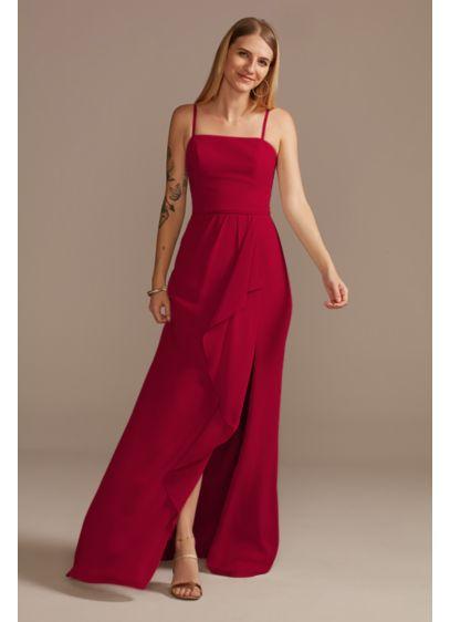 Pink David's Bridal Bridesmaid Dress
