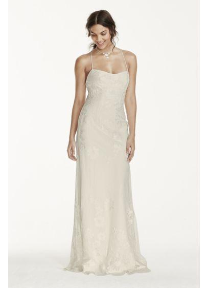 Long Sheath Simple Wedding Dress - Galina