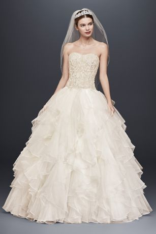 Lace Wedding Dresses Ball Gowns with Ruffles
