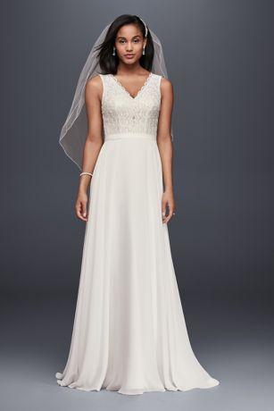 Brides Lace Back Button Dresses
