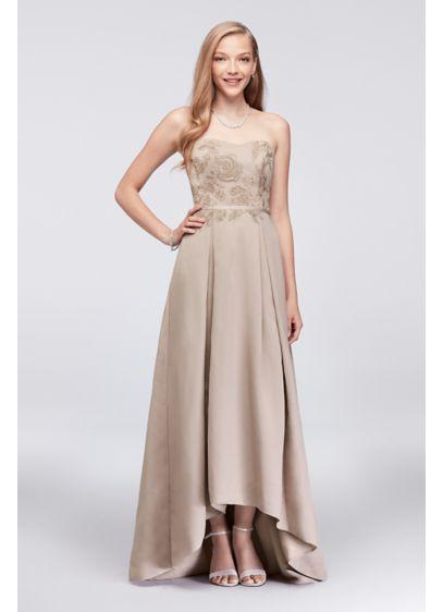 High Low Ballgown Formal Wedding Dress - Oleg Cassini