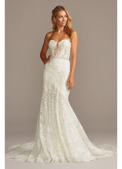 Long Mermaid/ Trumpet Formal Wedding Dress - Galina Signature
