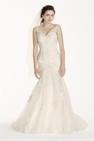 Jewel open back wedding dress with tank straps davids bridal junglespirit Image collections
