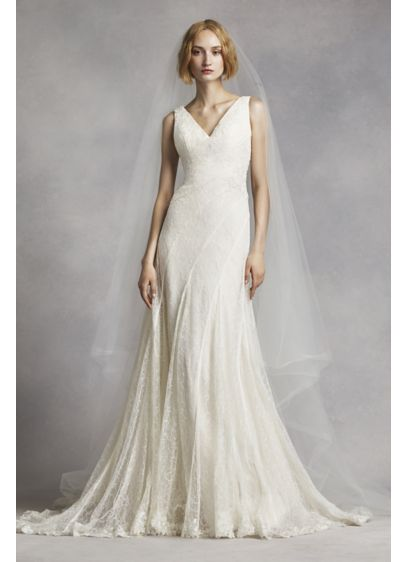Long A-Line Formal Wedding Dress - White by Vera Wang
