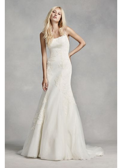 White By Vera Wang Lace 3d Flower Wedding Dress David S