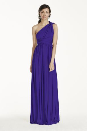 Long A-Line Strapless Dress - David's Bridal
