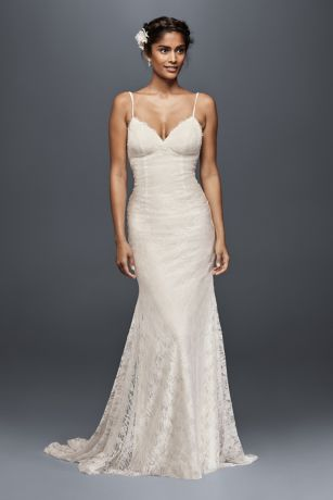 Soft Lace Wedding Dress With Low Back