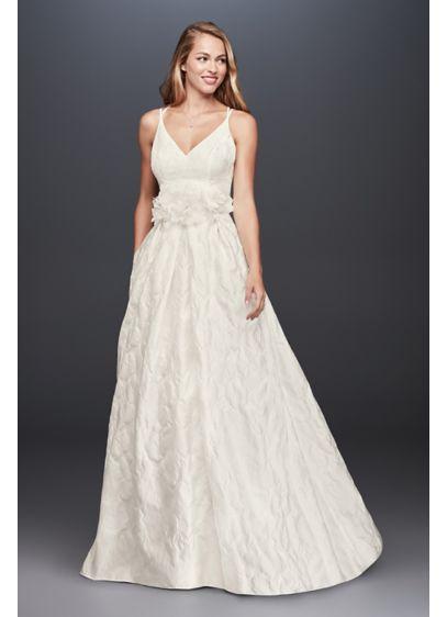 Long A Line Simple Wedding Dress Galina