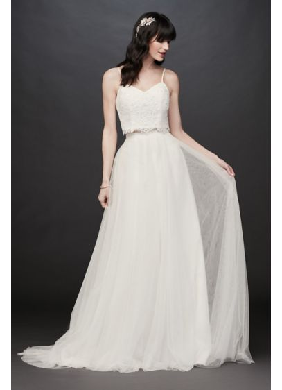 4c838e7befb Two-Piece Lace and Tulle A-Line Wedding Dress