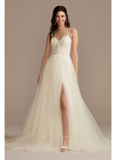 Long A-Line Glamorous Wedding Dress - DB Studio