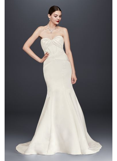 Truly Zac Posen Satin Corset Back Wedding Dress | David\'s Bridal