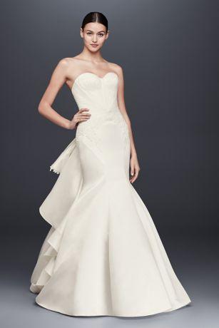 Truly Zac Posen Strapless Satin Wedding Dress | David\'s Bridal