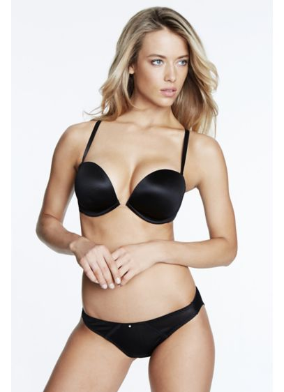 Dominique Convertible Strapless Bra - This deep-plunge underwire bra with a clear center