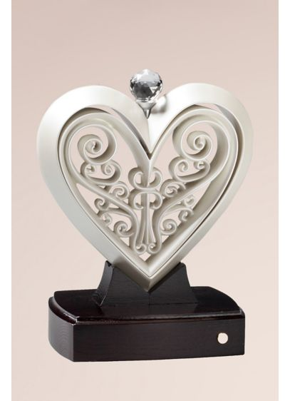 Timeless Pearlescent Unity Heart Sculpture - Wedding Gifts & Decorations