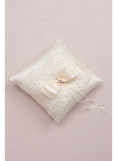 French Lace Ring Bearer Pillow - Wedding Gifts & Decorations