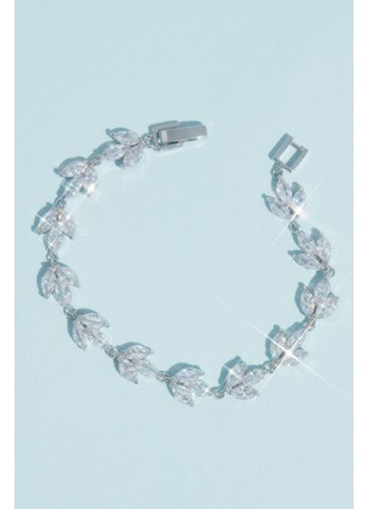 Marquise Cut Crystal Leaflet Bracelet - Wedding Accessories