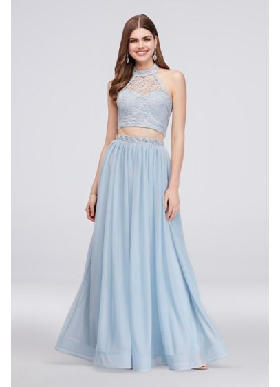 Long A-Line Halter Formal Dresses Dress - My Michelle