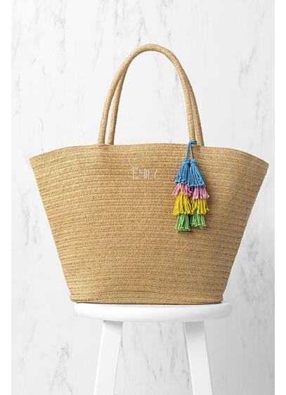 Personalized Straw Tote - Wedding Gifts & Decorations