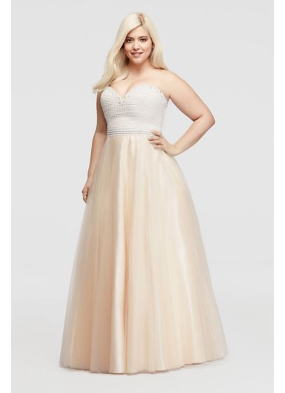 Short Ballgown Strapless Mother and Special Guest Dress - Sean Collections