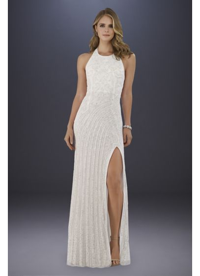 Long Sheath Glamorous Wedding Dress - Lara