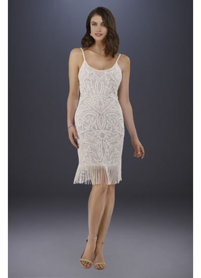 Short Sheath Glamorous Wedding Dress - Lara