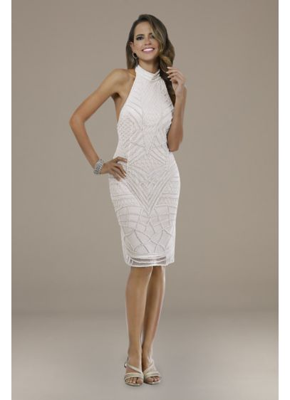 Short Sheath Casual Wedding Dress - Lara
