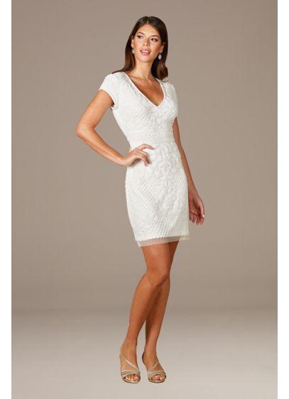 Short Sheath Beach Wedding Dress - Lara