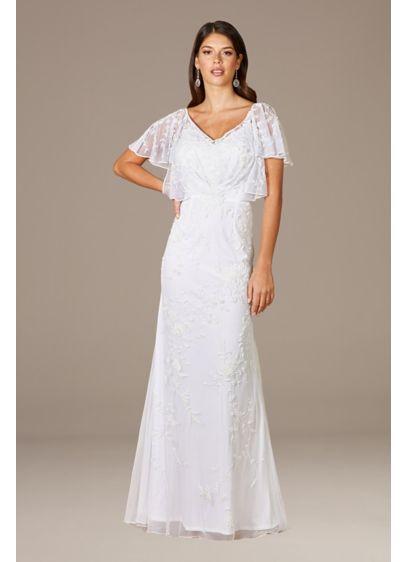 Long Sheath Glamorous Wedding Dress - Lara