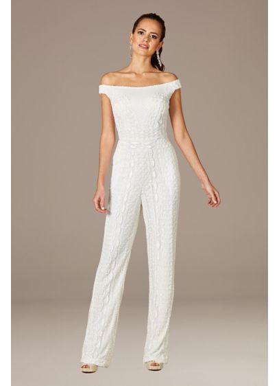Long Jumpsuit Wedding Dress - Lara
