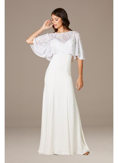 Lara Gilly Boho Beaded Pull-On Bridal Capelet - The ethereal beading on this lightweight capelet provides