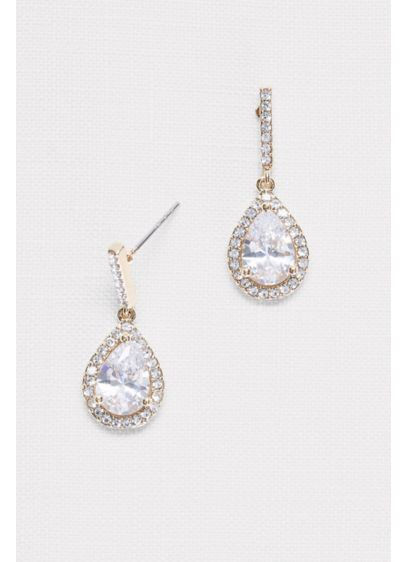 David's Bridal Yellow (Pear Solitaire Earrings)