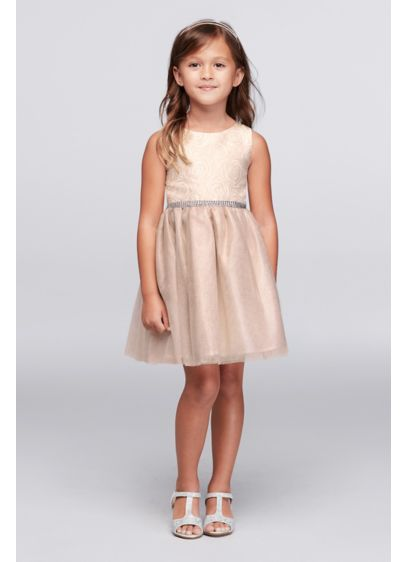 Short Pink Soft & Flowy Youngland Bridesmaid Dress
