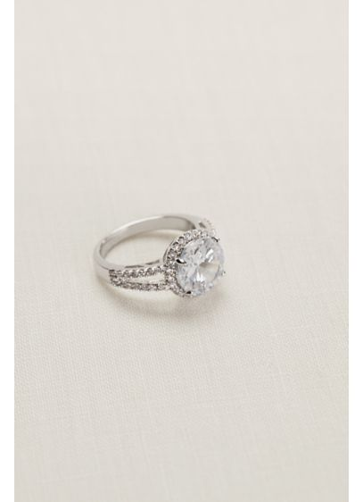 David's Bridal Grey (Round Crystal Pave Ring)