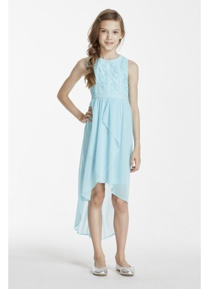 High Low Blue Soft & Flowy Sophia Christina Bridesmaid Dress