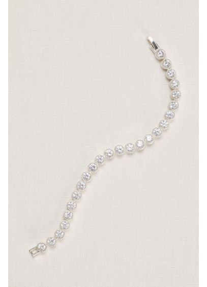 Pave Circles Cubic Zirconia Tennis Bracelet - Wedding Accessories