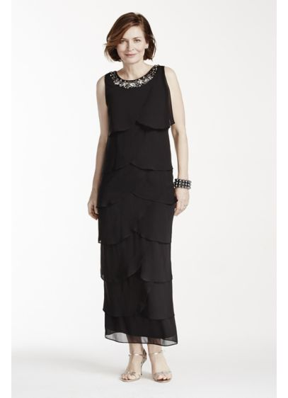 Long Sheath Tank Cocktail and Party Dress - RM Richards