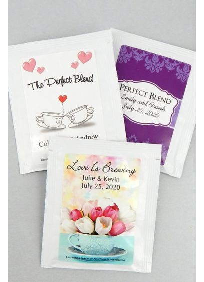 Personalized Classic Wedding Designs Tea Favors - Wedding Gifts & Decorations