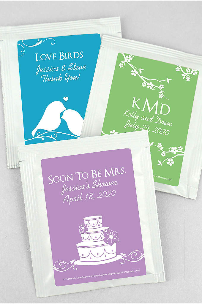 DB Exclusive Personalized Wedding Tea Favors - Personalized Tea wedding favors bring a dramatically different