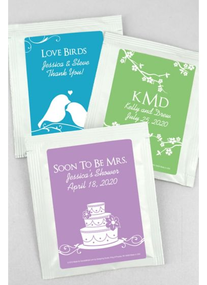 (DB Exclusive Personalized Wedding Tea Favors)