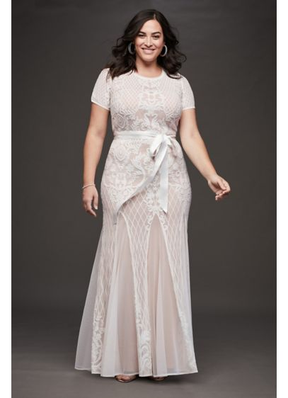 Long Sheath Casual Wedding Dress - RM Richards
