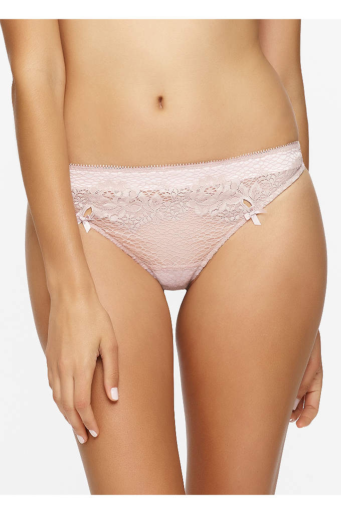 Unveiled by Felina Candy Thong - This lace and microfiber thong is a perfectly