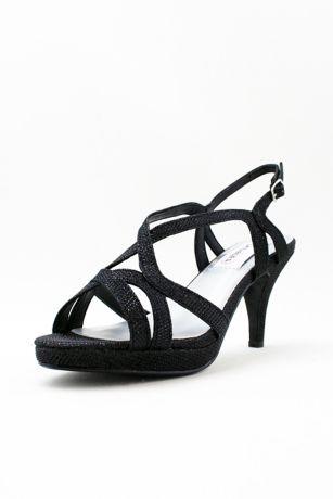 Dyeables Black;Grey;Ivory (Cross-Strap Mid-Heel Platform Pumps)