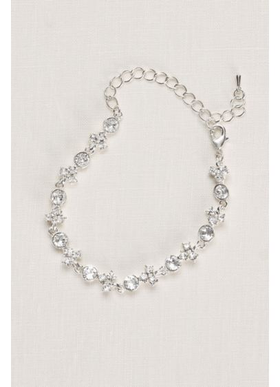 Clustered Crystal Bracelet - Wedding Accessories