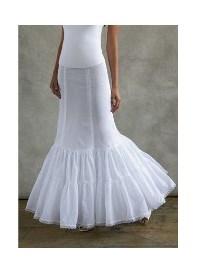 David's Bridal White (Fit and Flare Slip)