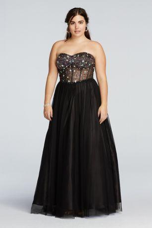 Black Corset Top Prom Dresses