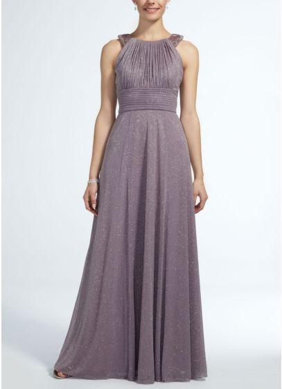 Long Pink Soft & Flowy Cachet Bridesmaid Dress