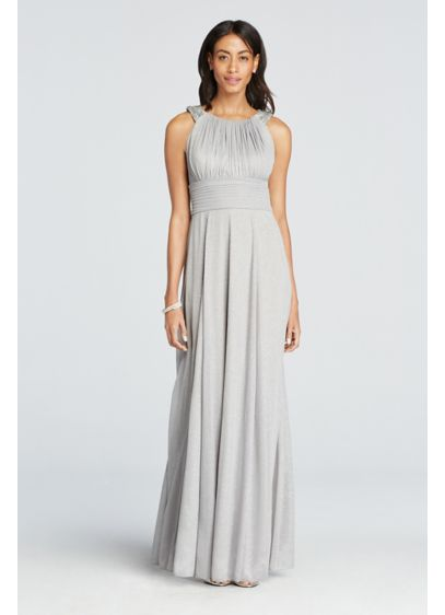 Long A-Line Halter Cocktail and Party Dress -