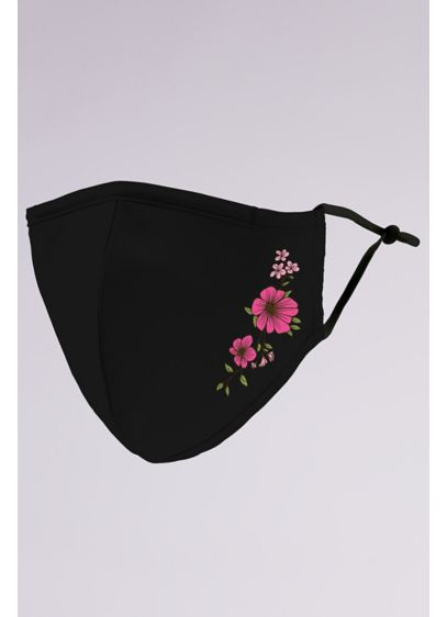 Simple Floral Mask with Adjustable Ear Loops - Wedding Accessories