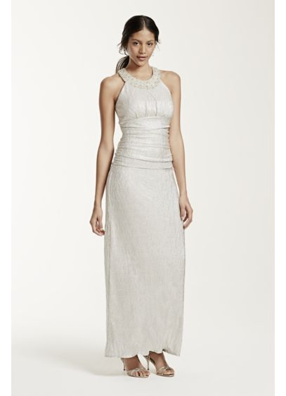 Long Sheath Halter Cocktail and Party Dress - Cachet
